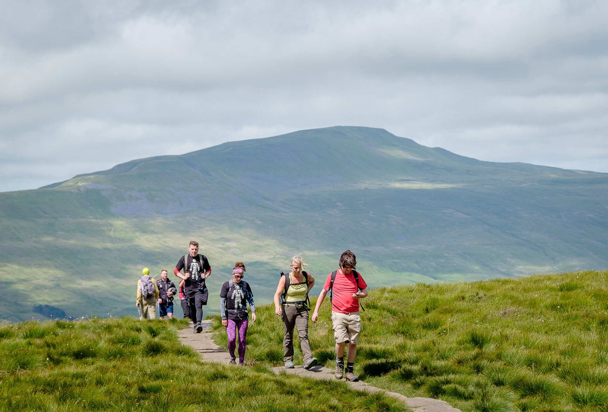 Walkers in the Yorkshire Dales