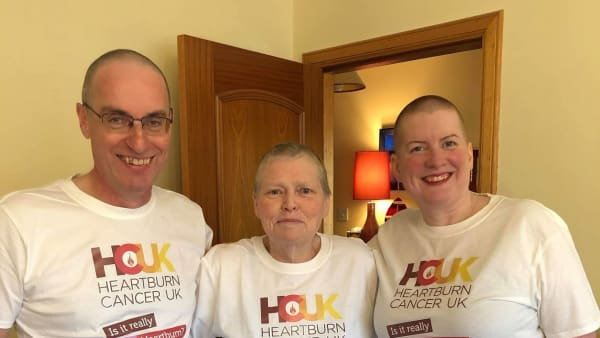 Eileen, Jenny and Steve wearing HCUK T Shirts