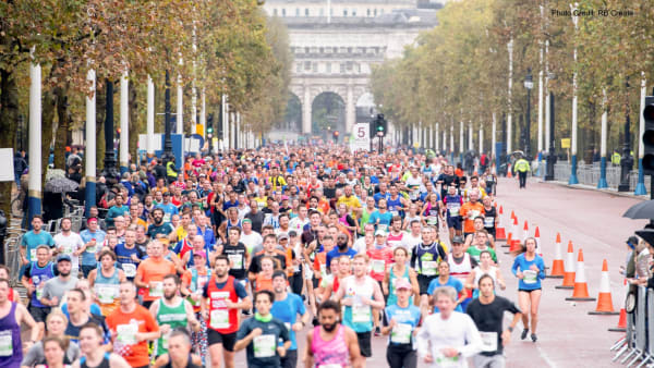 Runners in The Royal Parks Half Marathon